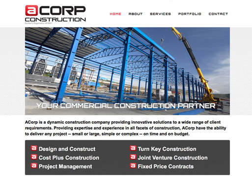 ACorp website design