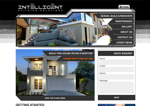 Intelligent Building Solutions website design