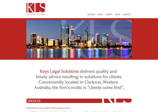 Keys Legal website design