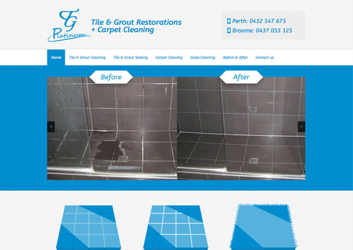 Platinum Tile & Grout website design